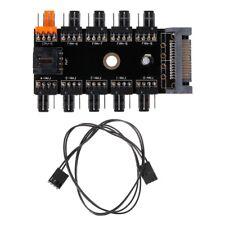 10Way 4-pin PC CPU PWM Cooling Fan Controller Hub SATA Power Socket Splitter
