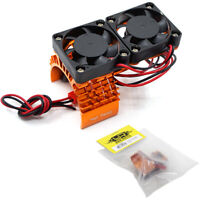 NEW Yeah Racing YA-0408 Alum 540 Motor Heat Sink w/Twin Fans Orange FREE US SHIP