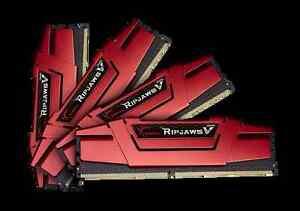 64GB G.Skill DDR4 PC4-19200 2400MHz Ripjaws V for Intel CL15 Quad kit (4x16GB)