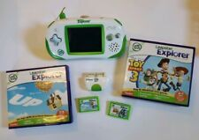 LeapFrog LEAPSTER EXPLORER Handheld Game System Lot - Camera - Toy Story 3 - Up