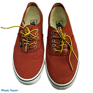 VANS Canvas TB4R Mens 9.5 Womens 11 Rust Brown Waffle Grip Soles Skate Shoes