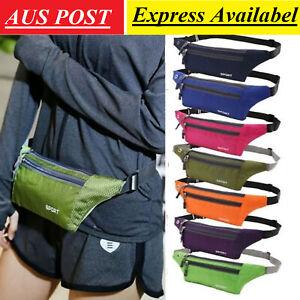 Running Sport Bum Bag Fanny Pack Waist Phone Money Belt Zip Hiking Pouch Wallet