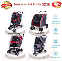 Folding Travel Outdoor Dog Cart Cover Carrier Pet Stroller Rain Cover Waterproof