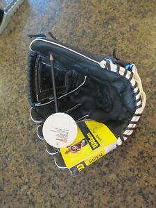 "Wilson A500 Siren Fastpitch Softball Glove Black 12"" LHT Right Hand Adult NWT"