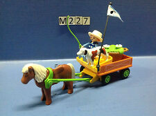 (M227) playmobil charette enfant poney ranch 3118 3120 3117