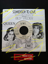 QUEEN Somebody to love 7'' promo very RARE juke box + cover + sticker Italy EX+