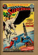 Superman #249 - 1st Terra-man! Neal Adams Cover! - 1972 (Grade 5.0) WH