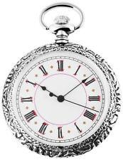 Taschenuhr Weiß Silber Analog Quarz Metall Römische Ziffern D-60547185585575