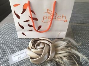 BNWT women's fascinator with a clip colour beige