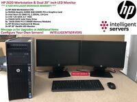 HP Z620 Workstation, 2x E5-2660 V2 10-Core, 128GB, 1TB HDD, 256GB SSD, K2000