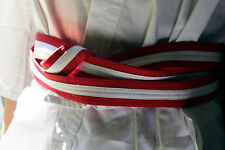 Red White Martial arts belt
