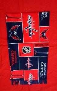 HANDMADE NHL FLEECE SCARF WASHINGSTON  CAPITALS APPROX 60 X 14  UNISEX
