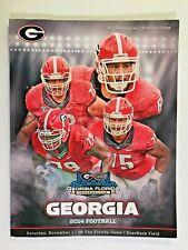 2014 Georgia Bulldogs vs Florida Gators FOOTBALL Game Program, Mark Beard cover