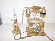Téléphone Rotatif Onix Telmar plaqué or gold plated 18K - Made In Italy + lampe