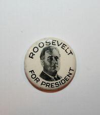 1932 Roosevelt FDR President Campaign Button Political Pinback Pin Electon