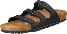 BIRKENSTOCK Florida Women Black Birko-Flor Lacquer Sandals B(M) US 6-6.5