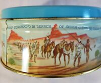 Vintage Texas Bluebonnets Historical Event Scenes Tin Empty