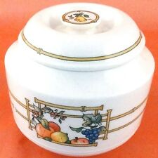 """MON JARDIN Villeroy & Boch COVERED SUGAR 3.25"""" tall NEW NEVER USED Luxembourg"""