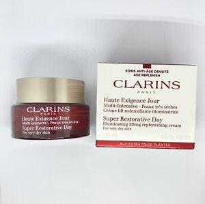 NEW CLARINS Super Restorative Day Cream 50ml  - For Very Dry Skin FREE P&P