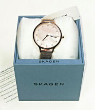 Skagen Anita Rose Gold-Tone MOP w/ Pearl Indices SS Mesh Bracelet Watch SKW2773