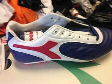 DIADORA BOMBERIN SIZE 5 UK MAN MADE  LEATHER AT £12  RED/WHITE/BLACK