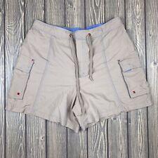 catalina womens medium 8/10 cargo shorts beige