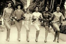 """1960's AFRICAN American 6 Beautiful Young Women Photo 4""""x6"""" Reprint Photo"""