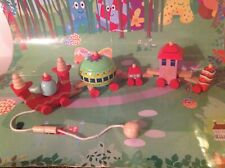 In The Night Garden Wooden Ninky Nonk Take Apart Pull Along Train  - Rare!!!