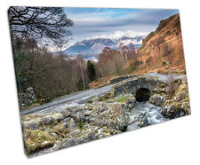 THE LAKE DISTRICT CANVAS WALL ART PICTURE LARGE 75 X 50 CM