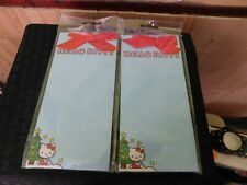 Hello Kitty Magnetic List Pad 60 Sheets Blue Christmas Set of 2 New!!!