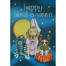 "Happy Howl-O-Ween Dogs 12.5"" X 18"" Garden Flag 27-3127-179 Flip It! Rain R Shine"