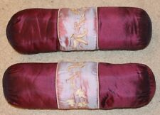 2no Purple sausage cushions