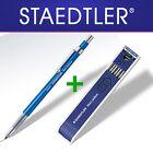 STAEDTLER Mars Technico 780C Leadholder clutch pencil + Carbon HB 2mm Leads-SET