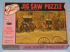 "VINTAGE WHITMAN GUILD PICTURE PUZZLE JIGSAW ""SHERIFF'S POSSE"" WESTERN COWBOY CIB"