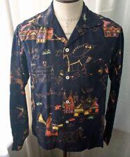 Vintage Burdine'S Colorful Print Casual Shirt 50s S
