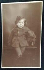 RPPC Cute Baby Dog Postcard Early 1900s Rare VHTF English Fashion Plush Toy UK