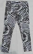 Express Stella Ankle Jeans Zebra Print Regular Fit Low Rise Size 4 28.5x26