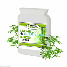 Bamboo Silica 415mg Includes Selenium & Biotin 60 Capsule Bottle