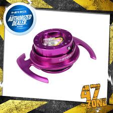 Purple Body Purple Ring w/ Handles 6 Holes NRG Steering Wheel Quick Release 4.0