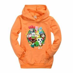 Animal Crossing Boy Girl Kid Spring Fall Casual Hoodies Pullover Sweatshirt Gift