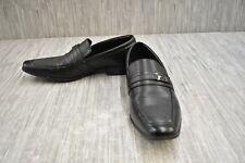 Calvin Klein Bartley Diamond Leather Loafers, Men's Size 10.5M, Black