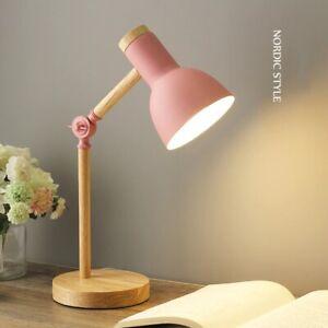 Nordic Wooden LED Table Lamp Simple Elegant Desk Lamp Reader Study Bedside Decor