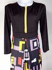 Eunice Lai Dress Size Medium Black Career Mod Geo 3/4 Sleeve Career NWT
