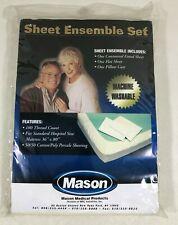 Mason Beige Sheet Ensemble Set Fitted, Flat & Pillow Cases Standard Hospital Bed