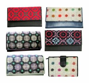 Yfenni Leather Ladies Welsh Tapestry & English Tweed Purses