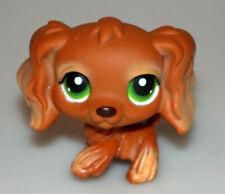 Littlest Pet Shop Brown Cocker Spaniel Dog Green Eyes #252 Retired 2007