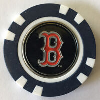 MLB Boston Red Sox Magnetic Poker Chip removable Golf Ball Marker