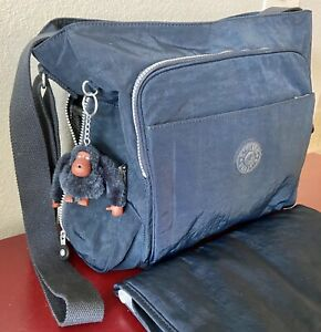 NWOT Kipling KYLER Large Baby Diaper Tote Bag True Blue W/Diaper Pad TM5327