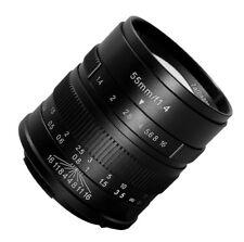 7artisans 55mm F1.4 Manual Focus HD.MC LENS Black f/ Panasonic Olympus Micro 4/3