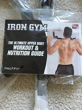 NEW! PRO FIT IRON GYM UPPER BODY WORK OUT BAR Only Opened For Photos